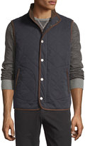 Tommy Bahama Quilted Button-Front Vest, Black
