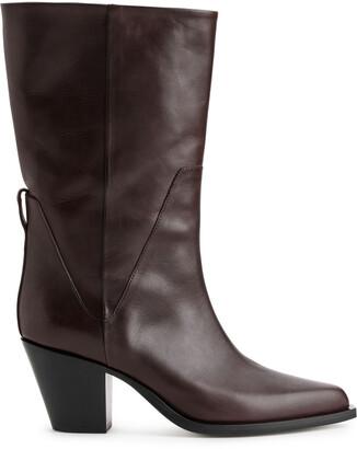 Arket Leather Cowboy Boots