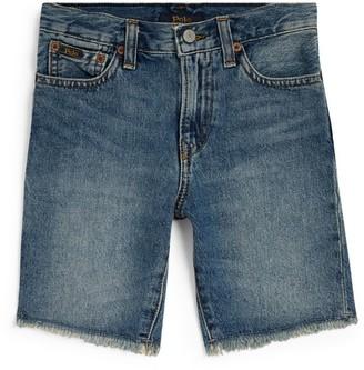 Ralph Lauren Kids Raw Edge Denim Shorts (8-16 Years)