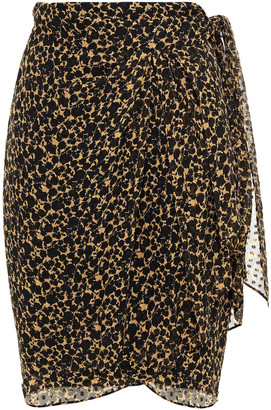 IRO Fallon Floral-print Fil Coupe Silk-blend Georgette Wrap Skirt