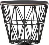 ferm LIVING Medium Wire Basket - Black with Lid