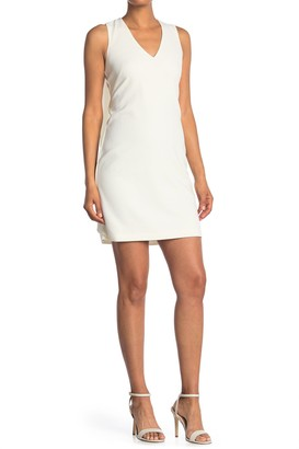 Vince Camuto Wing Back V-Neck Sleeveless Shift Dress