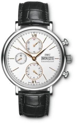 IWC Portofino Stainless Steel & Alligator Strap Chronograph Watch