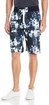 Southpole Men's Jogger Shorts with Funky Fresh Tie Dye Patterns