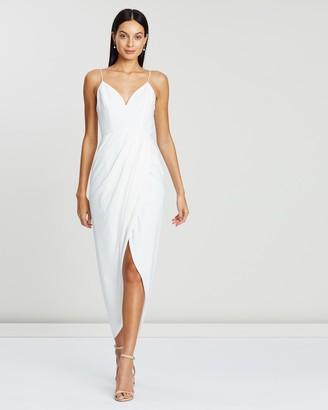 Shona Joy Women's White Midi Dresses - Cocktail Dress - Size 6 at The Iconic