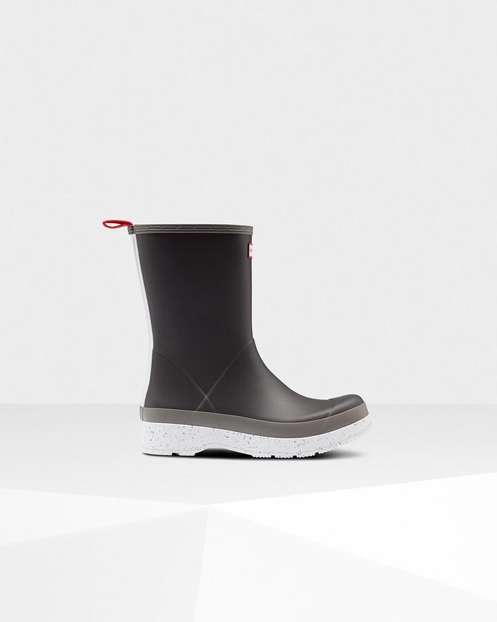 Hunter Men's Original Play Mid-Height Speckle Rain Boots