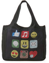 Butter Shoes Black Social Icon Canvas Tote