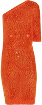 Sequined cotton-blend sweater dress