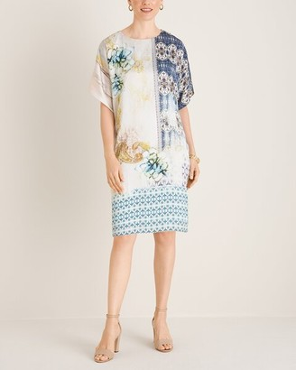 Chico's Short-Sleeve Watercolor-Print Dress