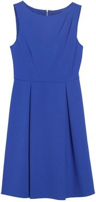 DKNY Pleat Shoulder Flare Dress
