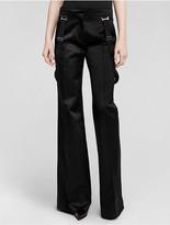 Calvin Klein Collection Silk Flare Leg Evening Trouser