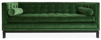 """Jonathan Adler Lampert 85"""" Wide Velvet Sofa Fabric: Green Velvet"""