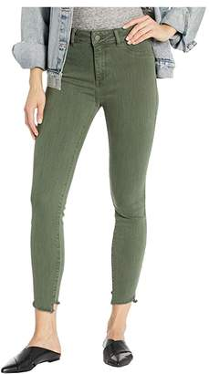 DL1961 Florence Cropped Mid-Rise Instasculpt Skinny in Jade (Jade) Women's Jeans