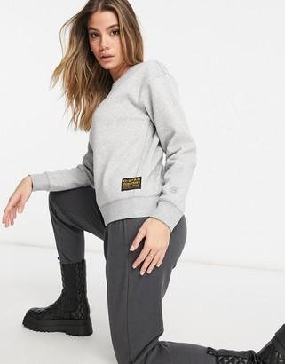 G Star G-Star crew neck sweatshirt in gray