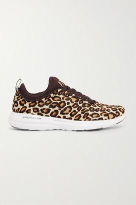 APL Athletic Propulsion Labs Techloom Phantom 3d Calf Hair Sneakers - Leopard print