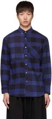 Blue Blue Japan Indigo Flannel Check Cut-Over Shirt
