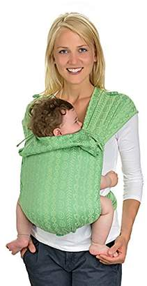 HOPPEDIZ Hop-Tye, Carrying Aid Made of Baby Carrier Fabric, including Carrying Instructions (Darjeeling lime green)