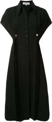 AKIRA NAKA Buttoned Pleated Shirt Dress