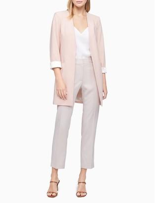Calvin Klein Open Front Long Suit Jacket