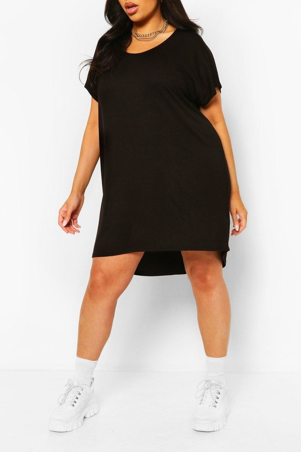 boohoo Plus Oversized T-Shirt Dress