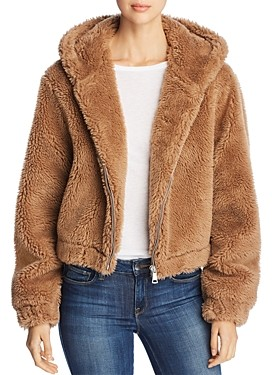 Bagatelle Hooded Faux-Fur Jacket