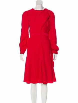 Alexander McQueen 2017 Draped Midi Dress Red