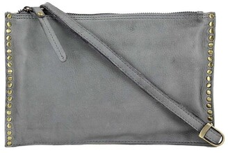 Prairie PRM204 Rivet Zip Top Crossbody Bag