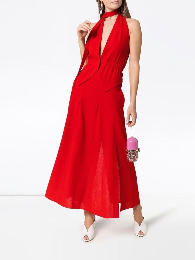 Thumbnail for your product : Roland Mouret Katana tie neck maxi dress