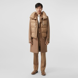 Burberry Down-fied Giet Detai Came Hair Taiored Coat