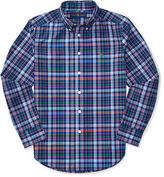 Ralph Lauren 8-20 Plaid Cotton Poplin Shirt