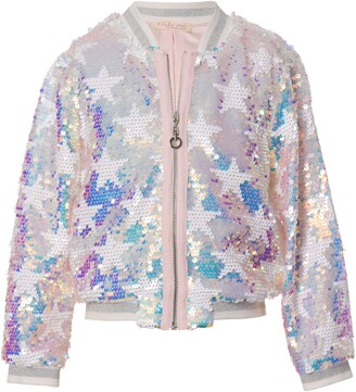 Truly Me Kids' Flip Sequin Star Jacket