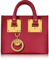 Sophie Hulme Cherry Red Leather Albion Box Tote Bag