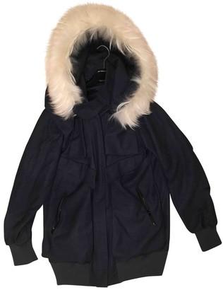 Felipe Oliveira Baptista \N Grey Wool Leather Jacket for Women