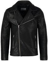 Urban Classics Faux Leather Jacket Black