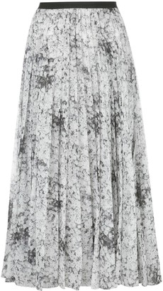 Adam Lippes Floral Pleated Skirt