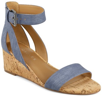 Aerosoles Willowbrook Ankle Strap Wedge Sandal - Wide Width Available