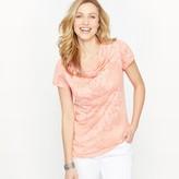 Anne Weyburn Patterned Jersey T-shirt