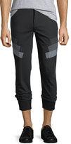 Neil Barrett Stretch-Wool Jogger Pants w/ Military Stripes