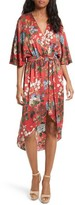 Alice + Olivia Women's Clarine Floral Silk Wrap Dress