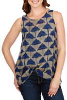 Lucky Brand Dyed Sleeveless Top