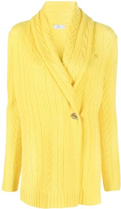 Etro Cable-Knit Cashmere Cardigan