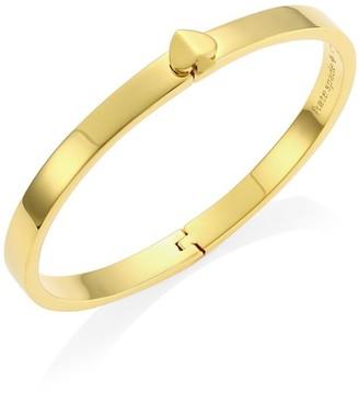 Kate Spade Heritage Spade Thin Button Goldplated Bangle Bracelet