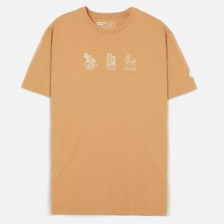 Universal Works Organic Cactus Print Tee Shirt Orange - Medium