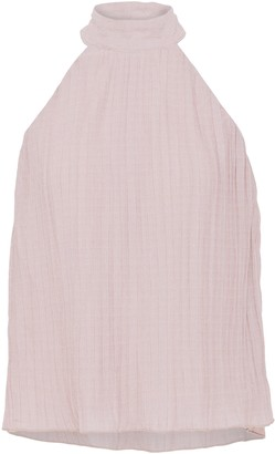 Walter Baker Pleated Metallic Knitted Top