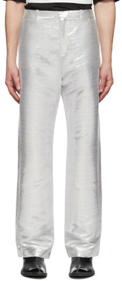Paco Rabanne Silver Lurex Trousers