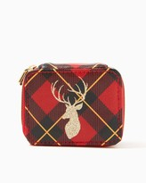 Charming charlie Reindeer Plaid Pill Case