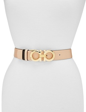 Salvatore Ferragamo Women's Adjustable & Reversible Gancini Belt