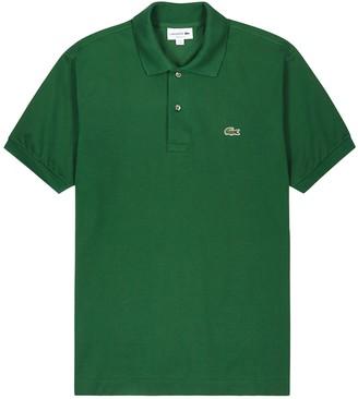 Lacoste Green pique cotton polo shirt