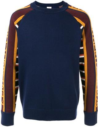 Kent & Curwen Striped Sleeve Jumper