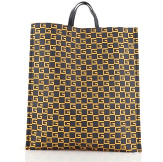 Gucci Square G Open Tote Printed Coated Canvas Large